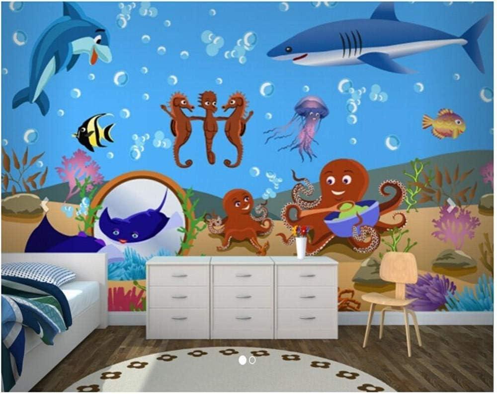 Mural Children half Room Living Tv Manufacturer OFFicial shop Wall Kids- Sea Under The Baby