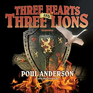 Three Hearts and Three Lions audiobook cover art