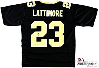 Marshon Lattimore Signed New Orleans Black Custom Jersey