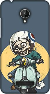 Micromax Canvas Spark Q380 Case, Premium Handcrafted Designer Hard Shell Snap On Case Shockproof Printed Back Cover for Micromax Canvas Spark Q380 - Love for Motorcycles 1
