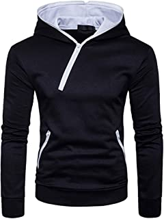 Men's Sweatshirts Beautyfine Hoodies Tops Personality Irregular Coat Casual Hooded Zipper Outwear