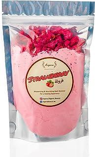Argana Beauty Natural & Relaxing Bath Bomb Powder (Strawberry) 175g Homemade Rich in Jojoba Oil, Corn Starch, Epsom Salt a...