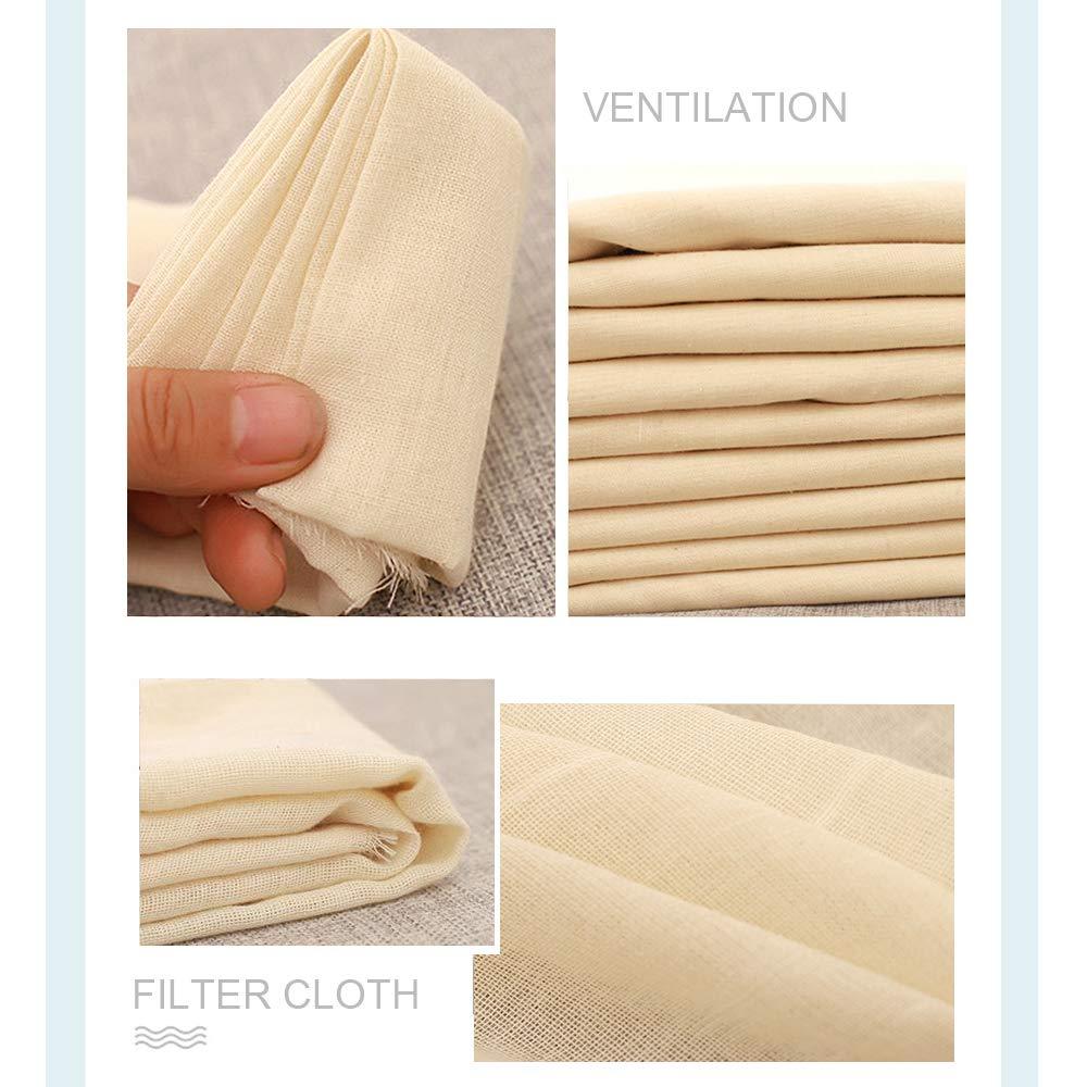SunBeter - Mantel de algodón natural para queso, muselina suave de ...