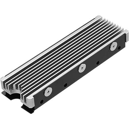 M.2 2280mm SSD両面ヒートシンク (銀色)