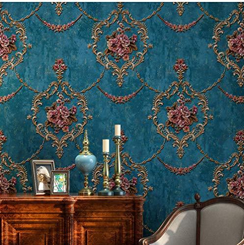 Glasvezel Muurschildering Europese Stijl Behang 3D Bloem Behang Woonkamer TV Slaapkamer Luxe Woondecoratie Wandbekleding 400x280cm
