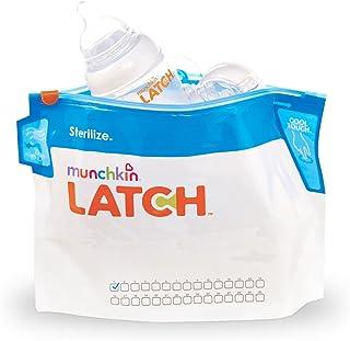 LATCH Munchkin Sterilizer Bags-6 Piece White/Blue