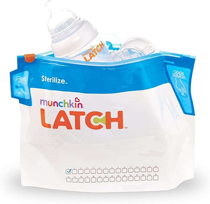Munchkin Latch Microwave Sterilize Bags 180 Uses 6 Pack