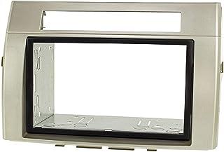 tomzz Audio 2455 053 Doppel DIN Radioblende Set Kompatibel mit Toyota Corolla Verso ZER/ZZE Bj.2004 2009 Silber mit Einbaukit