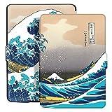Ayotu Estuche de Colores para Kindle Paperwhite-Se Adapta a Todas Las Generaciones de Paperwhite anteriores a 2018(No se Ajusta a la 10ª generación de Paperwhite K5-04 The Surfing in Kanagawa