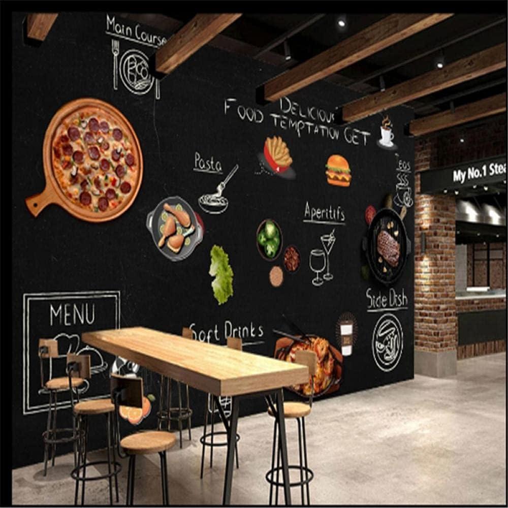 Custom 5 ☆ very popular Hamburger Purchase Pizza Snack Bar Hamburgers Western Wallpaper 3D