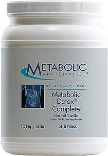 Metabolic Maintenance Metabolic Detox Complete Vanilla Shake - 20 Grams Non-GMO Plant Protein, Omega-3s, Nutrients + Milk ...
