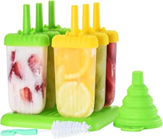 Ice Lolly Moulds, ESSIA Popsicle Molds Set, 6 Ice Lolly Makers for Kids, LFGB Certified BPA Free Ice Cream Mould with Non-...