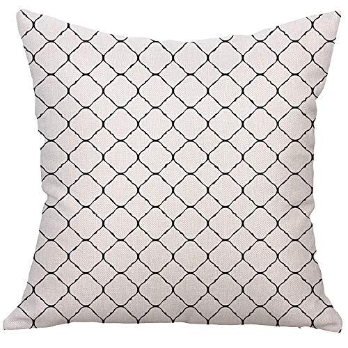 Xmiral Kissenbezüge Quadratisches Kissenbezug Kissen Pillowcase Versteckter Reißverschluss(D)