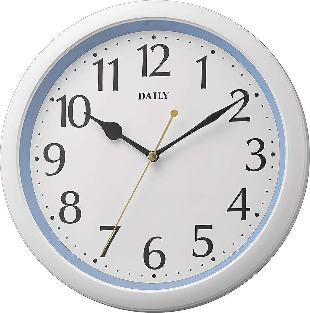 仕方負荷に変わるリズム時計工業(Rhythm) 掛け時計 ブルー Φ28x4.6cm アナログ 連続秒針 小型 インテリア 8MG813DN04