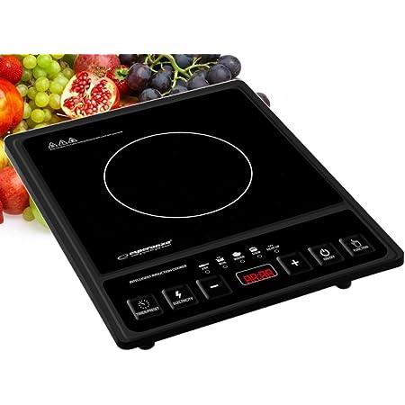 Plaque de cuisson à induction | Portable électrique | Plaque de cuisson à induction unique | 2000 W | Réglage de la température dans une plage de 80 °C à 270 °C