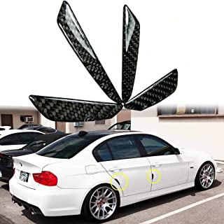 Black Real Carbon Fiber Car Side Door Edge Protection Guards Trims Stickers Decal, Pack f 4