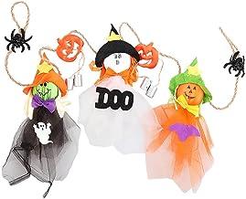 DYNWAVE Abóbora Fantasma Pendurado Decoração Pingente Dia das Bruxas Windsock 6 Peças Espantalho Boneca Enfeite para Festa...