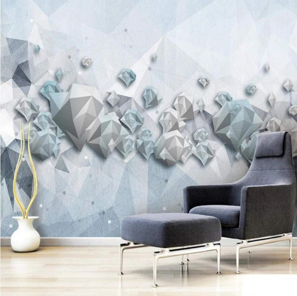 Amazon Xxzzdn カスタム大壁紙壁画3d幾何三角形グラフィックリビングルームの寝室の背景壁紙壁画 350x250cm 壁紙