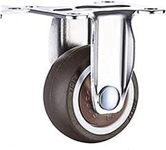 WSWJ 4 Stuks 1, 5 Inch TPE 8 * 20mm Ultrastille Rubber Wielrem Meubels Zwenkwielen Remwiel Met Schroef (Color : B15)