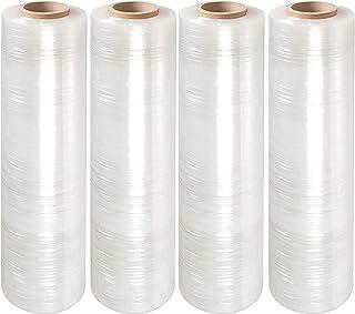 "Yens 4 Rolls Clear Stretch Film Plastic Pallet Wrap 18"" Wide x 1000 Ft. 80 Gauge. Best Price"