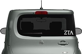 Zeta Tau Alpha Decal/Sticker - Car, Truck Laptop (3 Pack) (White)