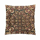 GygardenCuteTribal Tapestry Brown HuesHidden Zipper Home Sofa Decorative Throw Pillow Cover Cushion CaseSquare20X20InchTwo Sides Design Printed Pillowcase