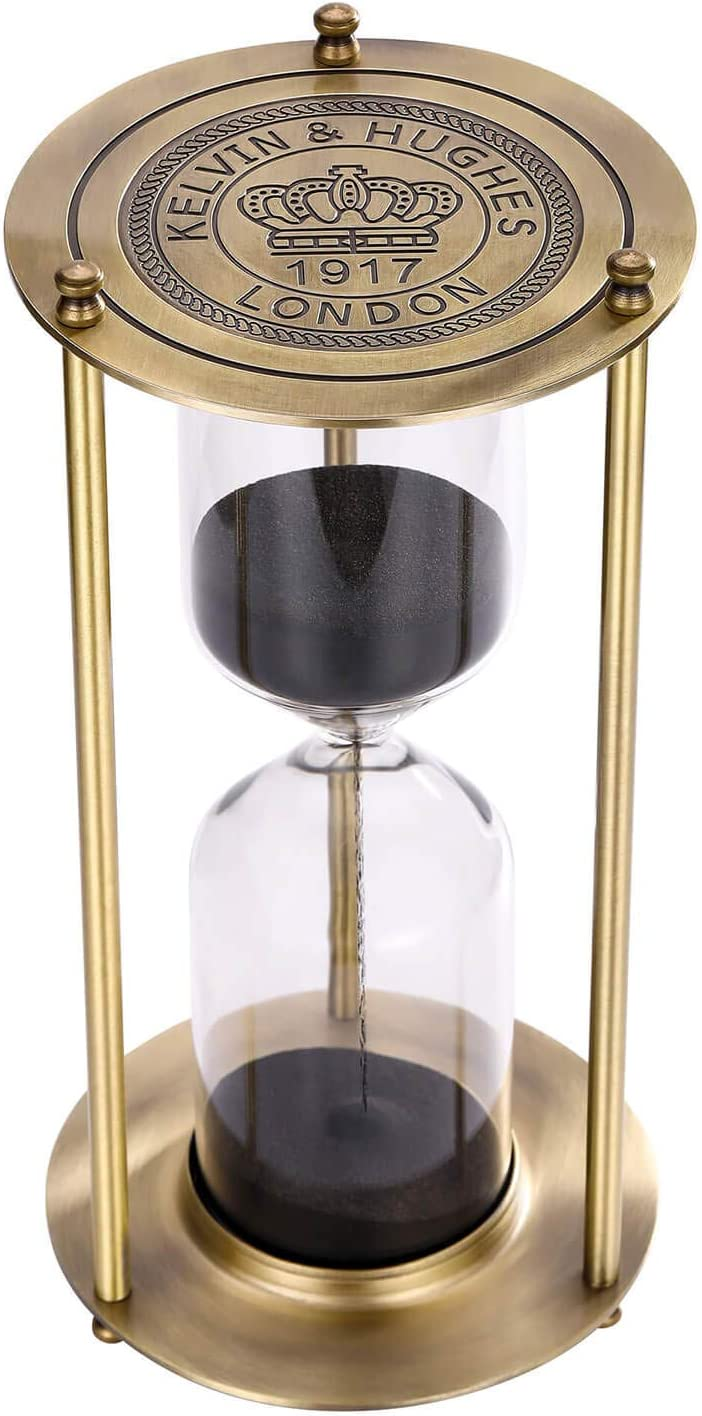 SuLiao Free Shipping New Hourglass 60 Minute New York Mall Sand Timer Vintage Black Large