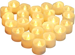 Homemory Battery Operated Tea Lights, 24pcs Flameless LED Tea Candles, Electric Tea..