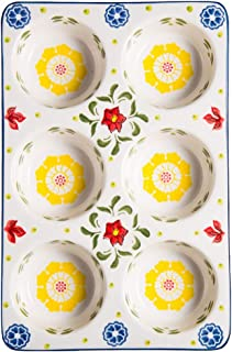 JD Plateau de Cuisson, 6 ménages Même Muffin gâteau de Cuisson Plateau Outils de Cuisson Six Même Moule en céramique de Cu...