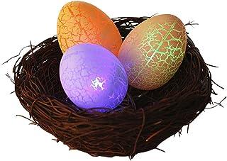 Toyvian Œufs de Pâques LED avec nid d'oiseau - Œuf de Pâques - Artisanat de Pâques - Décoration de maison pour Pâques, jar...