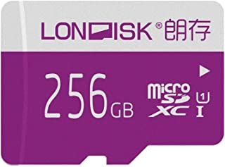 LONDISK Memory Card with Adapter 256GB Micro SD Card for Smart Phone Tablet PC(U1 256GB)