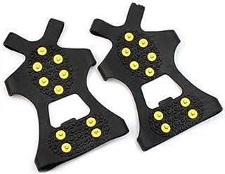 WHHHuan 1 paire de crampons antidérapants pour chaussures - 10 crampons antidérapants - Pour escalade - Taille S