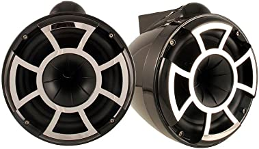 Wet Sounds Revolution Series 10 inch HLCD Wakeboard Tower Speakers - Black w/X Mount Kit