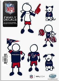 Siskiyou NFL Houston Texans Kleine Familien Aufkleber Set