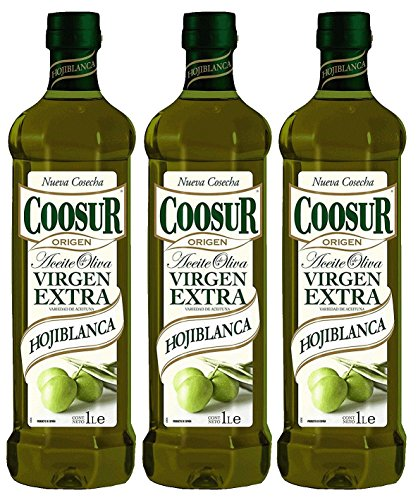 Coosur Aceite de Oliva Virgen Extra Hojiblanca 1L - [Pack de 3]