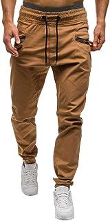 Jotebriyo Mens Contrast Jogger Trousers Bodybuilding Sport Hip Hop Drawstring Sweatpants Pants Trousers
