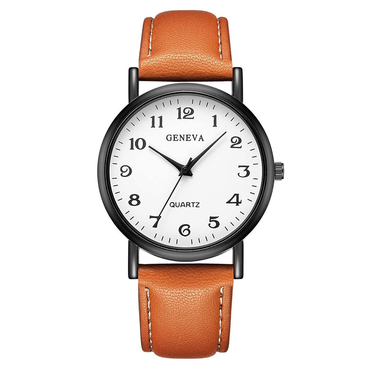 Women's Minimalist Wrist Watch, Mitiy Quartz Leather Strap Simple Ladies Watch Girls Dress Wristwatch