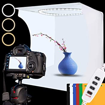 Studio Photography Light Box Portable Foldable Mini Studio Photography Light Box Tent Kit with 6 Color Backgrounds,or Shooting Quality Pictures
