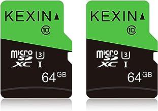 KEXIN 64GB Micro SD Card Class 10, U3, MicroSDXC UHS-I C10 High Speed Memory Card, 2 Pack