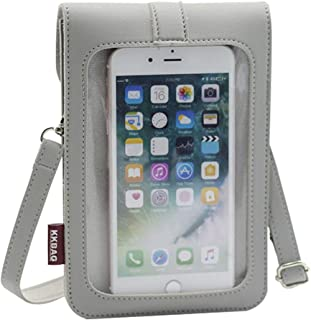 Clear Window Touch Screen Cell Phone Purse Case Girls Women Small Crossbady Shoulder Bag Pouch for iPhone 12/11 Pro Max,X...