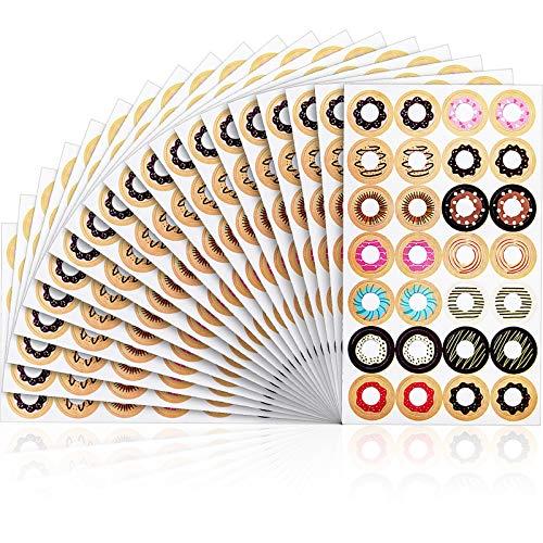 Juego de 1000 Pegatinas de Reforzamiento de Papel de Hojas Sueltas de Moda Etiquetas Autoadhesiva, Diseños de Anillos Variados, Ideal para Escuala, Hogar y Oficina (Color Mezclado)