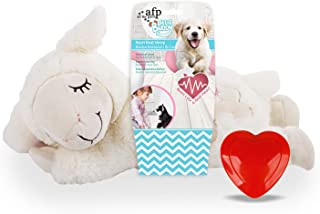 All For Paws Little Buddy Heart Beat Sheep Dog Plush Toy, Beige, 2.8 kg