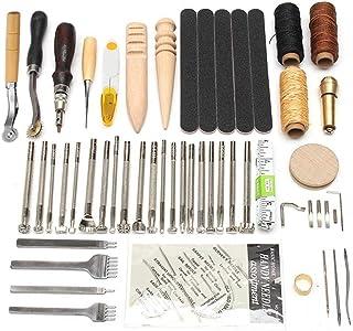 Kit de Gravure sur Cuir Ensemble D'outils en Cuir Ensemble Fait à La Main en Cuir Bricolage Ensemble à La Main en Cuir Cou...