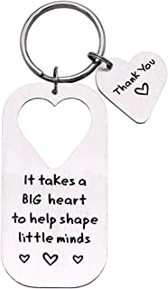 Melix HOME It Takes A Big Heart to Help Shape Little Minds Heart Keychian/Collana, in acciaio inox