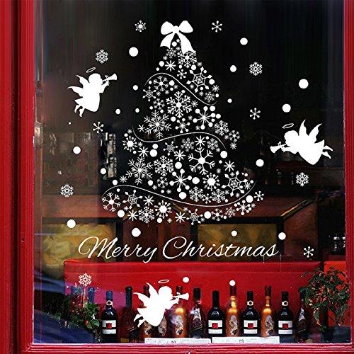 Heekpek Pegatinas Navidad Extraíbles Noel Nieve Pegatina