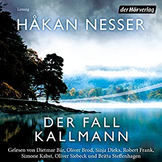 Der Fall Kallmann                   By:                                                                                                                                 Håkan Nesser                               Narrated by:                                                                                                                                 Dietmar Bär,                                                                                        Oliver Siebeck,                                                                                        Robert Frank,                   and others                 Length: 11 hrs and 48 mins     Not rated yet     Overall 0.0