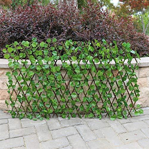 Lanrui Retractable Artificial Gartenzaun Erweiterbare Faux Privatsphäre Zaun Holz Reben Klettergerüst Gartenpflanze Hauptdekorationen