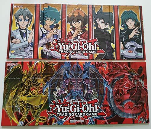 Spielbrett Yu-Gi-Oh! Legendary Collection 2 Spielfeld Jaden Yuki Zane & Götterkarten Hamon Raviel Uria Spielmatte / Playmat