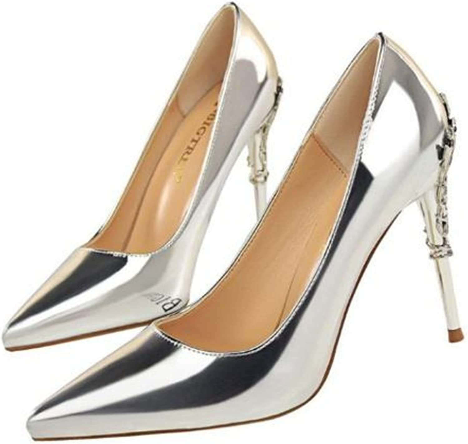 TUYPSHOES Stiletto High Heel shoes for Women  Pointed, Closed Toe Classic Slip On Dress Pumps