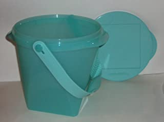 Tupperware Impressions 5 Quart Jumbo Canister with Handle Cool Mint Green